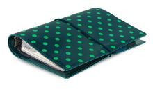 Diář Filofax Domino Patent tmavě zelený lesklý