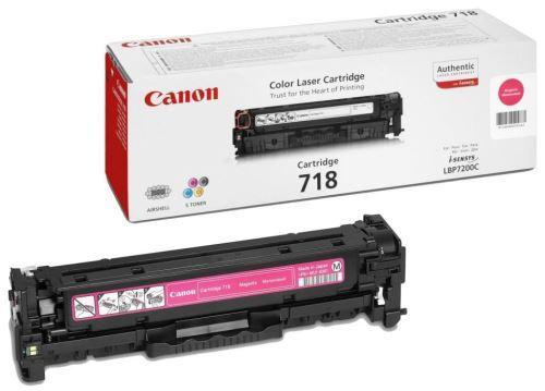Canon CRG-718 Magenta originální toner červený