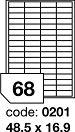 Rayfilm R0119.0201D samolepící etikety 48,5x16,9mm bílé lesklé laser 300 listů