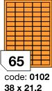 Rayfilm R0133 fluo oranžové etikety 38x21,2mm 100listů