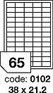 Rayfilm R0504.0102A samolepící etikety 38x21,2mm lesklé bílé 100 listů