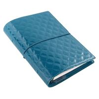 Filofax Domino Luxe A6 Personal teal diář