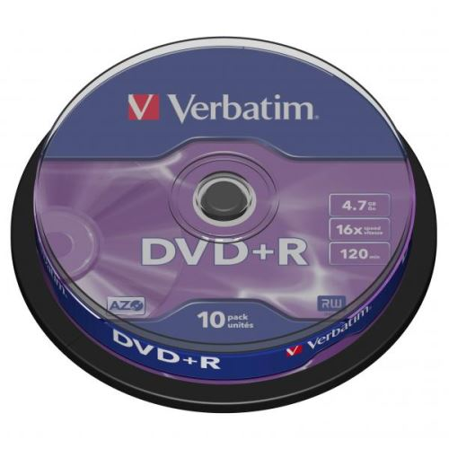 Verbatim DVD+R 4.7GB 16x 10ks Spindle 43498