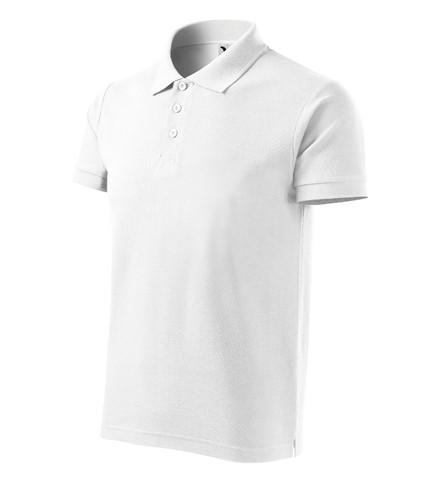 2cfbd6d93cc Pánská polokošile Cotton krátký rukáv s límečkem bílá S