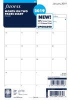 Filofax kalendář A5 2019 přehled měsíců anglický