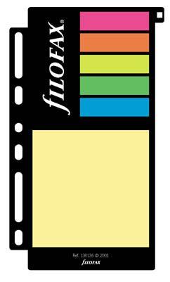 Filofax náplň do diáře formát A7 barevné lepící papírky