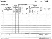 Tiskopis Záznam o provozu vozidla osobní dopravy