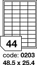 Rayfilm R0502.0203A samolepící etikety 48,5x25,4mm matné bílé PET 100 listů