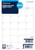 Filofax kalendář A5 2018 přehled měsíců anglický