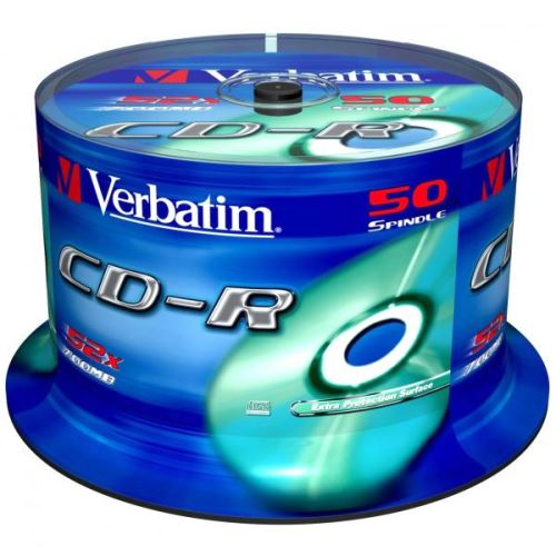 CD-R Verbatim 700MB 52x, Spindle, 50ks