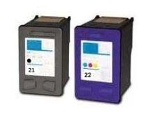 HP 21XL +22XL set kompatibilních náplní černá + barevná SD367AE C9351 + C9352