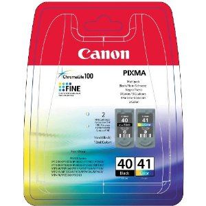 Canon PG40 + CL-41 Black + Color originální inkoust černý a barevný