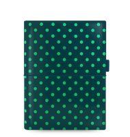 Filofax Domino Patent A5 tmavě zelený lesklý
