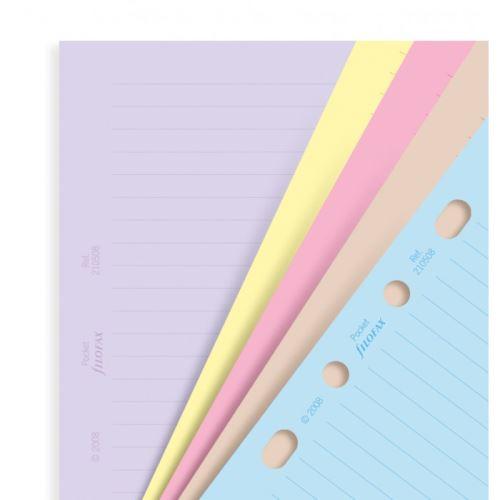 Filofax náplň do diáře formát A5 papíry linkované barevné