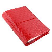 Filofax Domino Luxe A6 Personal červený diář