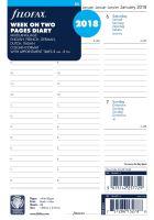 Filofax kalendář A5 2018 týden na dvě strany 5 jazyků sloupce