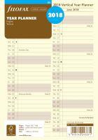 Filofax plánovací kalendář A5 2018 vertikální krémový