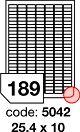 Samolepící etikety 25,4x10mm bílé 100 listů R0ECO.5042A