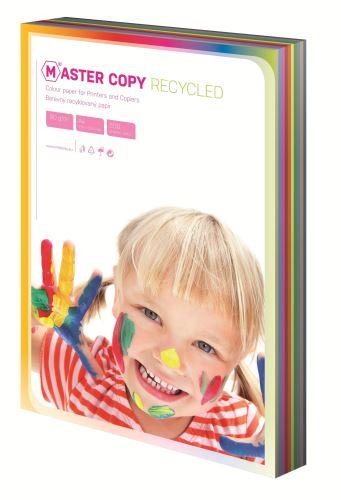 Papír A4 EKO print colour Master duha mix 10 barev 500 listů