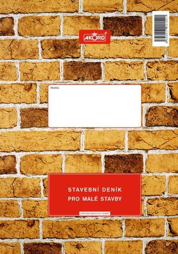 Tiskopis Stavební deník pro malé stavby A4