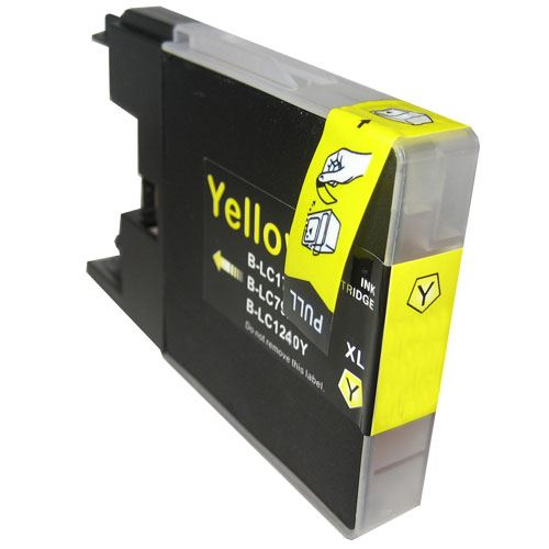 Brother LC-1240 LC-1280 Yellow kompatibilní inkoustová náplň žlutá