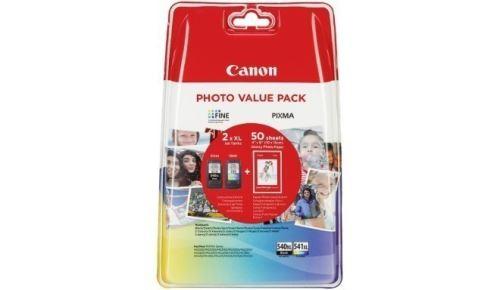 Canon PG-540XL CL-541XL originální ink. náplň černá a barevná + fotopapír 10x15cm 50listů