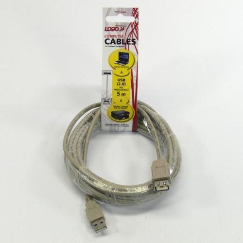 Kabel USB 2.0 A-A prodlužovací 5m