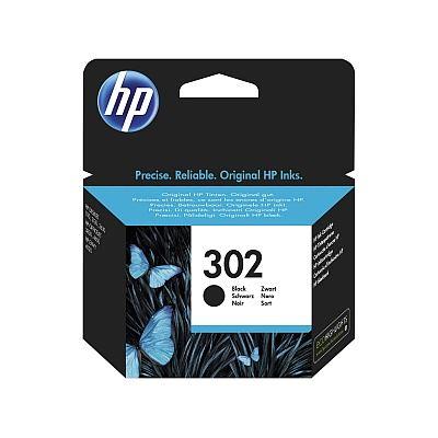 HP 302 černá originální inkoustová náplň F6U66AE