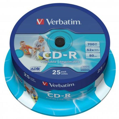 CD-R Verbatim 700MB 52x Spindle 25ks Printable