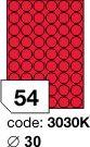 Rayfilm R0132 fluo červené etikety kulaté průměr 30mm 100listů