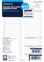 Filofax kalendář A5 2019 den na jednu stranu business anglický