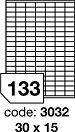 Samolepící etikety 30x15mm bílé 100 listů R0ECO.3032A