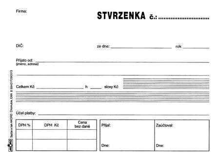 Tiskopis Stvrzenka s DPH