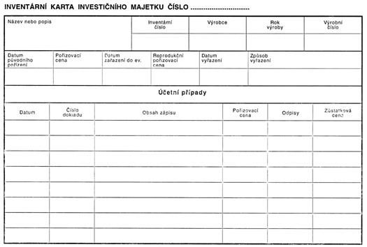 Tiskopis Inventarni Karta Investicniho Majetku Vytiskni Cz
