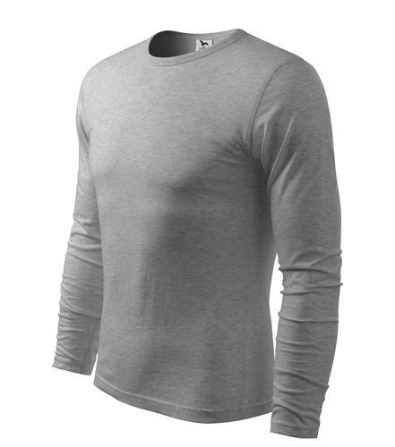 Triko pánské FIT-T Long Sleeve dlouhý rukáv tmavě šedý melír