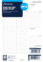 Filofax kalendář A5 2018 týden na dvě strany anglický sloupce