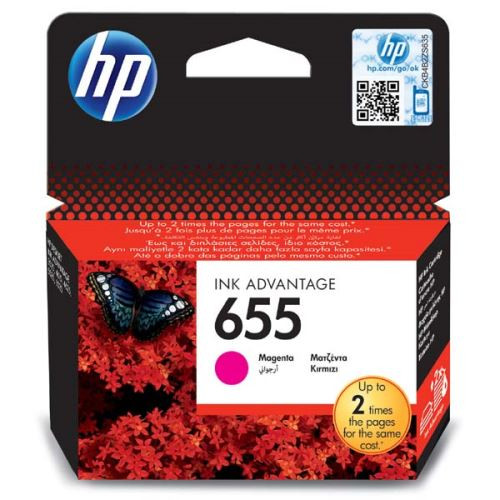 Originál barva HP CZ111A No.655 Magenta červená