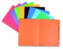 Papírové desky Prešpán bez klop s gumou oranžové