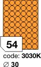 Rayfilm R0133 fluo oranžové etikety kulaté průměr 30mm 100listů