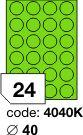 Rayfilm R0120 kulaté zelené etikety průměr 40mm 100listů