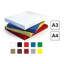 Papírové kartonové desky Delta A4 žluté 250g