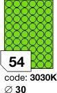 Rayfilm R0130 fluo zelené etikety kulaté průměr 30mm 100listů