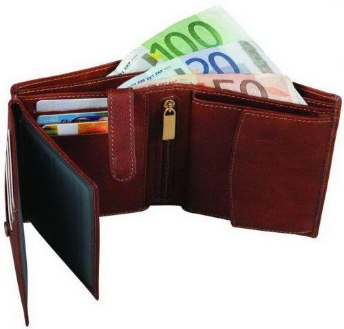 Adk peněženka MALMO hnědá