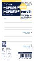 Filofax Kalendář A6 2020 týden na dvě strany linky český
