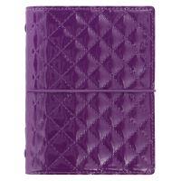 Filofax Domino Luxe A7 Pocket fialové diář kapesní lesklý