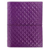 Filofax Domino Luxe A5 fialový diář lesklý