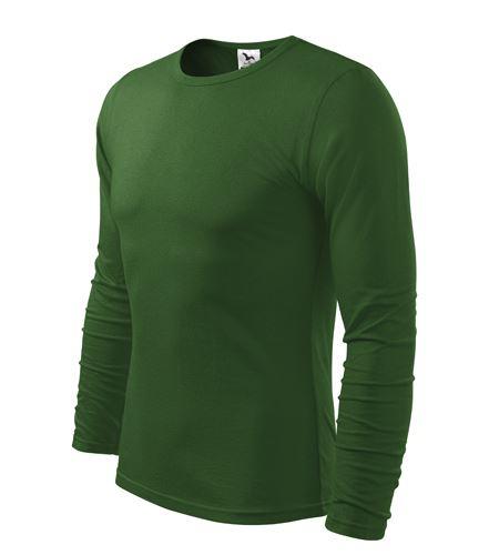 Triko pánské FIT-T Long Sleeve dlouhý rukáv lahvově zelené