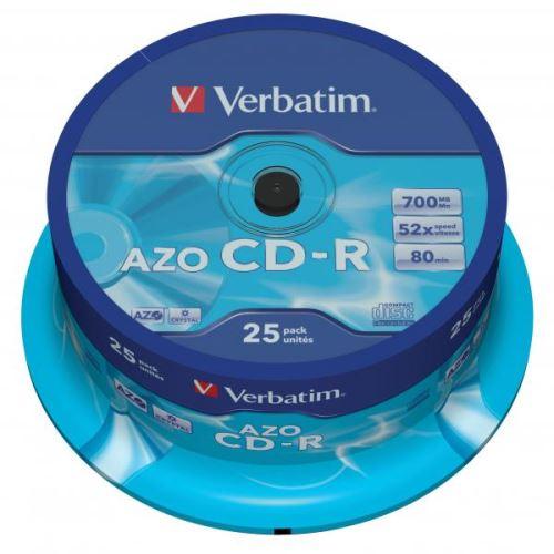 CD-R Verbatim 700MB Super AZO Spindle 25ks 43352