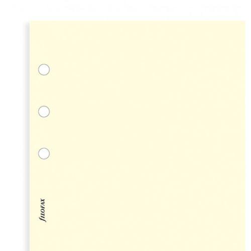 Filofax náplň do diáře formát A6 krémový papír