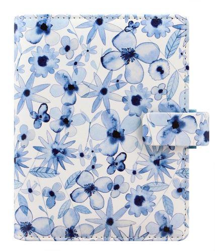 Filofax Indigo Floral A7 Pocket diář kapesní květinový